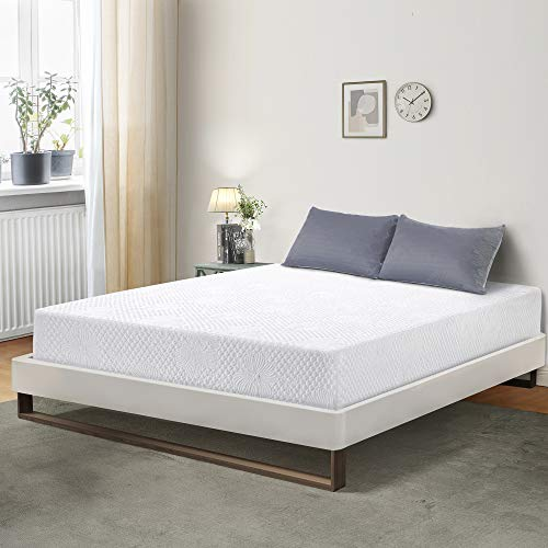 PrimaSleep 6 inch Smooth Top Foam Mattress Sleep Sets, Queen, White