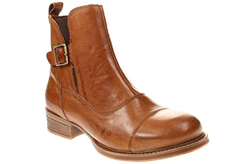 TEN POINTS Pandora 124006 - Damen Schuhe Stiefelette Boots - 319cognac, Größe:36 EU
