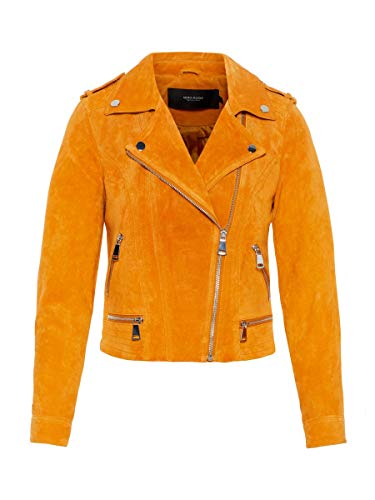 Vero Moda NOS Damen VMROYCE SHORT SUEDE JACKET NOOS Jacke, Orange (Golden Nugget), 36 (Herstellergröße: S)