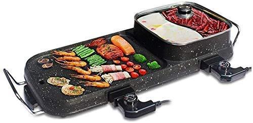 ZHUYUE Uitstekende elektrische tafel Top Grill BBQ Hot Plate huishouden Grill Pot Smoke-Free non-stick Teppanyaki grillpan (kleur: B)