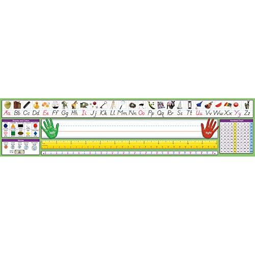 North Star Teacher Resource NST9041 Adhesive Primary Modern Manuscript Desk Plates, Pack of 36