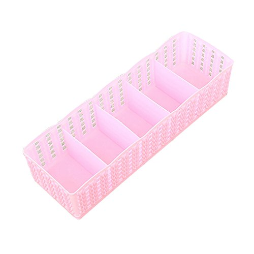 Sulifor 5 Unterwäsche Unterwäsche Socken Aufbewahrungsbox, Kunststoff Aufbewahrungsbox Aufbewahrungsbox Krawatte BH Socken Schublade Kosmetik Trennung