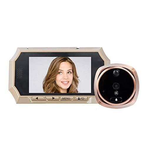 DNAMAZ Portero 4.3 Pulgadas LCD Digital Puerta Preghole Viewer Sensor de Movimiento HD Doorbell IR Night Vision Photo Audio Video Door Security Cámara de Seguridad automatico