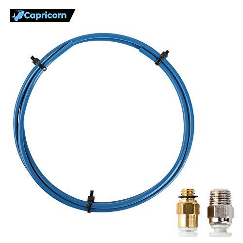 Sovol Authentisch Capricorn Bowden PTFE Schlauch Blau Teflonschlauch XS 1,2 Meter mit PC4-M6 Pneumatik-anschlussstücke und PC4-M10 Verbinder für 3D-Drucker 1,75 mm Filament