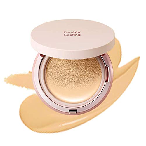 ETUDE HOUSE Double Lasting Cushion Glow #W21 Beige | 24-Hours Lasting Cushion with a Radiant Natural Finish
