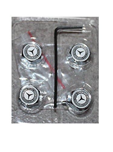 4 tapones de válvula con antirrobo, diseño con logo de Mercedes Benz