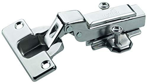 Hettich 9219545 Intermat Topfscharnier (Scharnier) -mit Klipsmontage, Mittelwandanschlag-für Türdicken ab 15-25 mm, 6 STK, vernickelt