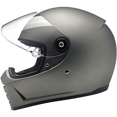 Biltwell Lane Splitter Helmet - Flat Titanium - Medium
