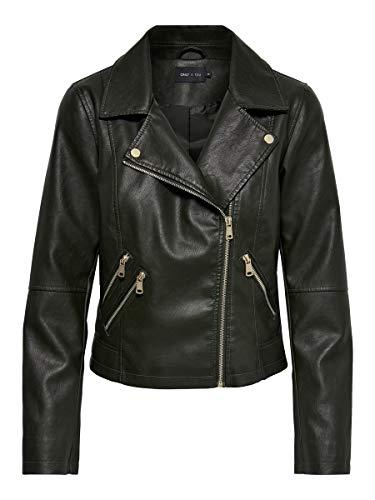 ONLY Damen ONYFILIPPA Faux Leather Jacket OTW Kunstlederjacke, Peat, 40