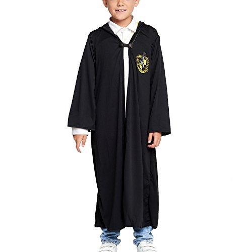 Harry Potter Kinder Kostüm Umhang Hufflepuff schwarz - M
