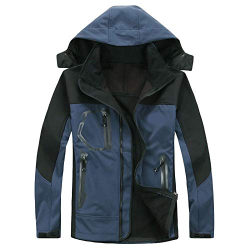 RoMantic Unisex Skijacke Männer und Frauen beschichten Dame's Mountain Winter wasserdichte warme Jacke Sportreisejacke mit Abnehmbarer Kapuzenjacke