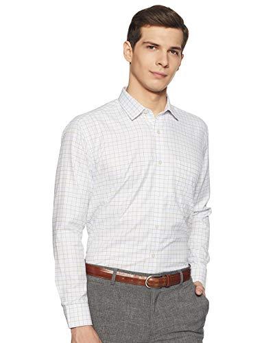 Amazon Brand – Symbol Men's Checkered Regular Fit Full Sleeve Formal Shirt