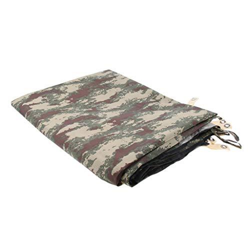 Baoblaze Bâche de Protection pour Tente de Camping Auvent Abri Camouflage Étanche