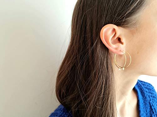 Aros con dije de triángulo pequeño hippie chic - regalo de joyería minimalista para mujer