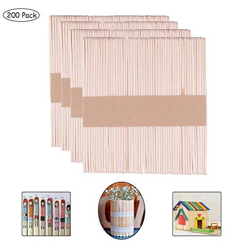 Gxhong Eisstiele aus Holz, Lollipop Sticks Natürliche Hölzerne DIY Sticks, Lollipop Craft Sticks zum Basteln von Collagen/Dekorationen/Modellen (Natürlich - 114 X 10 X 2 MM)