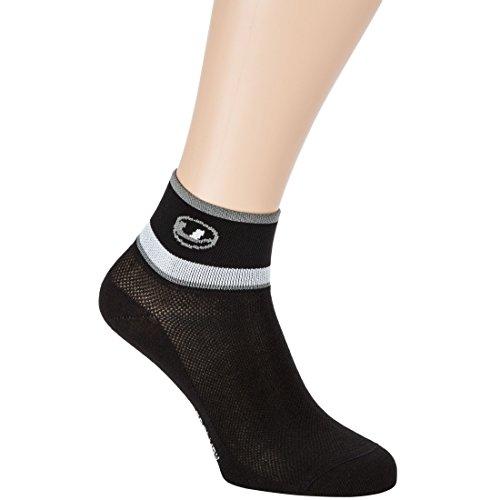 Ultrasport Socken Fahrrad, Schwarz/Grau/Weiß, 35-38