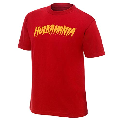 WWE Hulk Hogan Hulkamania Rot Authentic Youth T-Shirt, L