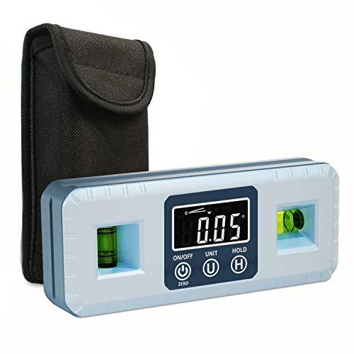 XpertMatic DL1909 Magnetischer Digital-Präzisions-Neigungsmesser mit VA-Anzeige und Wasserwaage für die Holzbearbeitung, Digital-Nivellierlibelle für Fasen-, Tischsäge- und Gehrungssägenmessungen