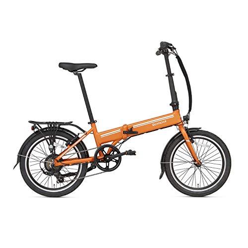 Bicicleta eléctrica plegable Popal E-Folt 2.0, 20 pulgadas, unisex, 6G, freno de llanta de aluminio, bicicleta plegable, E-Folt 2.0, color negro