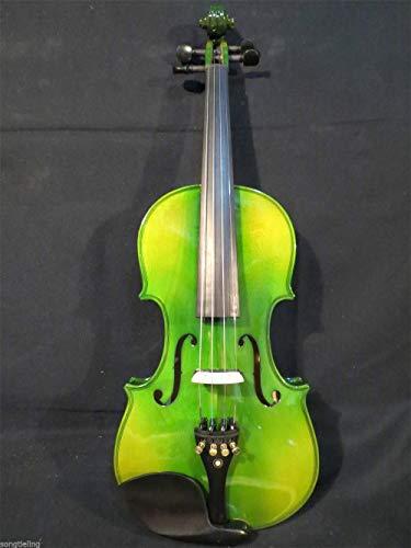 XTQDM Geige Professionelle grüne Farben elektrisch & amp;akustische Violine, grün