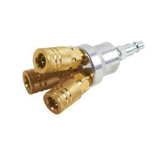 Hitachi 115316 - Colector redondo de aluminio y latón de 3 vías con 3 acopladores y enchufe NPT hembra de 1/4'