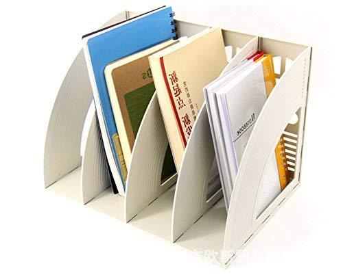 Recinto almacenamiento escritorio módulo índice 4*compartimentos estantería organizador caja almacenaje polipropileno porte-fichier clasificador para papel A4Documento Carpeta revista cuaderno CD