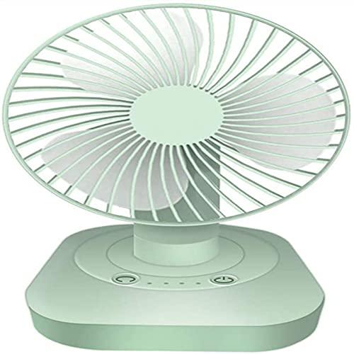 PEARFALL Mini ventilador Carga USB Silencio Escritorio ventilador 3 velocidades ajustables oscilación 120 ° giratorio Adecuado para el hogar, escritorio, oficina.