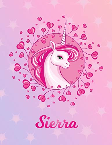 Sierra: Unicorn Sheet Music Note Manuscript Notebook Paper – Magical Horse Personalized Letter S Initial Custom First Name Cover – Musician Composer … Notepad Notation Guide – Compose Write Songs
