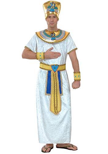 Ciao- Ramses Faraone Egizio Costume travestimento uomo (Taglia L) Disfraz de adulto, Color blanco, azul, dorado (16148.L)