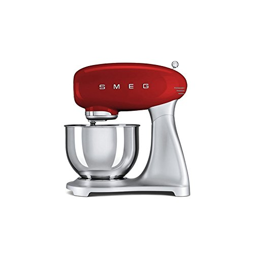 Robot de Cocina Smeg SMF01RDEU 4, 8 L 1000W Plateado Rojo Robot de Cocina Smeg SMF01RDEU 4, 8 L 1000W Plateado Rojo: Amazon.es