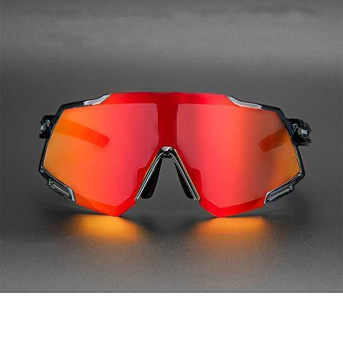 jzhi Gafas de Sol Gafas de Ciclismo polarizadas Gafas de Bicicleta de Carretera MTB Deportes al Aire Libre Gafas de Sol de Bicicleta