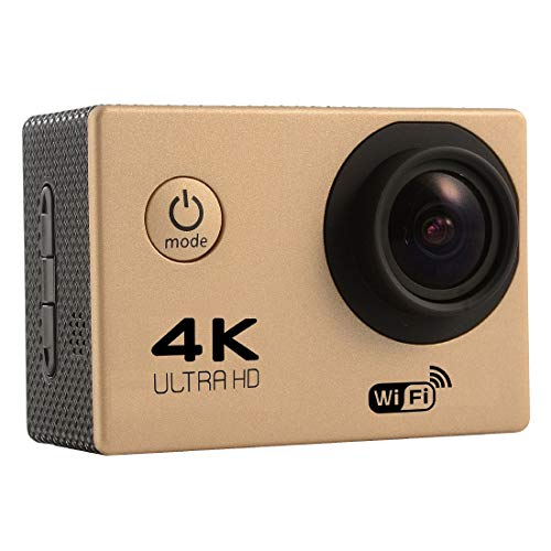 for for F60 2.0 inch Screen 4K 170 Degrees Wide Angle WiFi Sport Action Camera Camcorder with Waterproof Housing Case, Support 64GB Micro SD Card(Black) Sports Camera (Color : Gold)