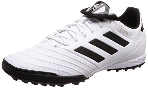 adidas Herren Copa Tango 18.3 TF Fußballschuhe, Weiß (Footwear White/Core Black/Tactile Gold Metallic), 39 1/3 EU