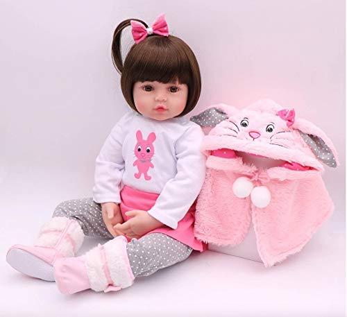 cadina Boneca Bebê Reborn Realista De Silicone Npk Original 48cm