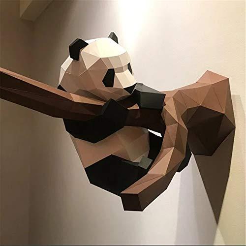Papercraft DIY 3D Panda Papier Tiere 35 x 55 cm Wanddeko Papercraft Building Kit Origami Papier Modell Ornament DIY Spielzeug für Kinder Kleinkinder (Perlglanzbrett)