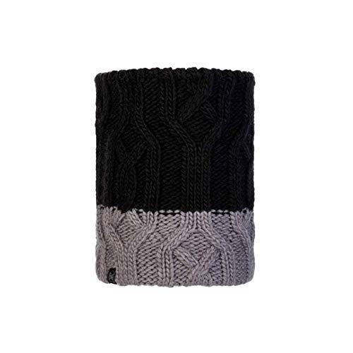 Buff - gebreide ronde sjaal Polar Ganbat voor kinderen - zwart/grijs