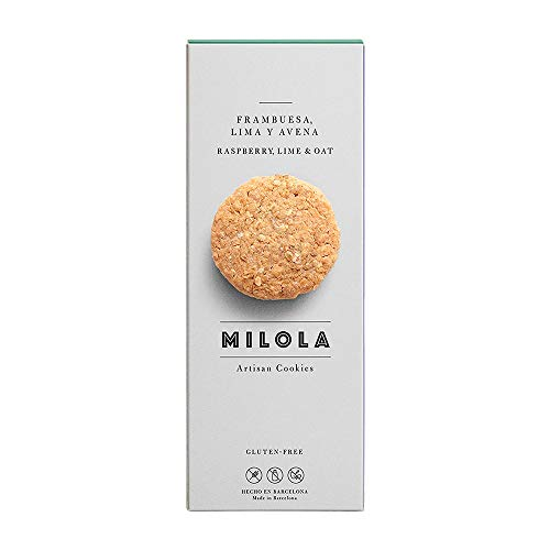 MILOLA Galletas Gluten Free. Pack 6 Cajas de 140gr   Sin Gluten, Sin Lácteos, Sin Aceite de Palma (RASPBERRY AND LIME OATY)