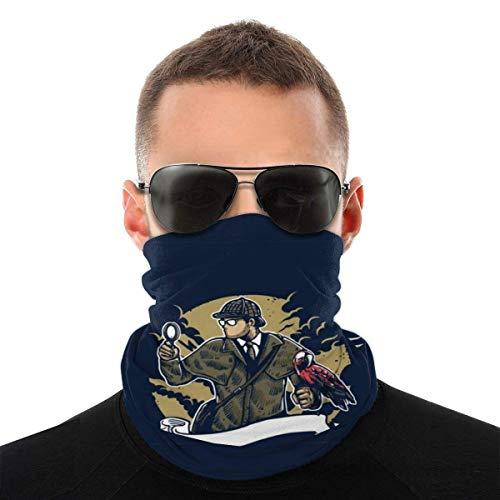 Teemoo Sherlock Holmes Papagei Lupe Vielzahl Kopftuch Gesichtsmaske Magische Kopfbedeckung Hals Gamasche Gesicht Bandana Schal