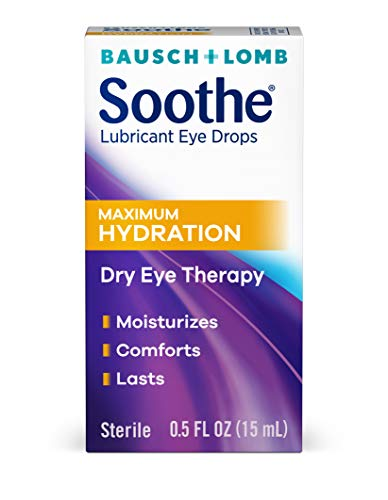 Bausch + Lomb Soothe Lubricant Eye Drops, Maximum Hydration, 0.5 Ounce/15 ml