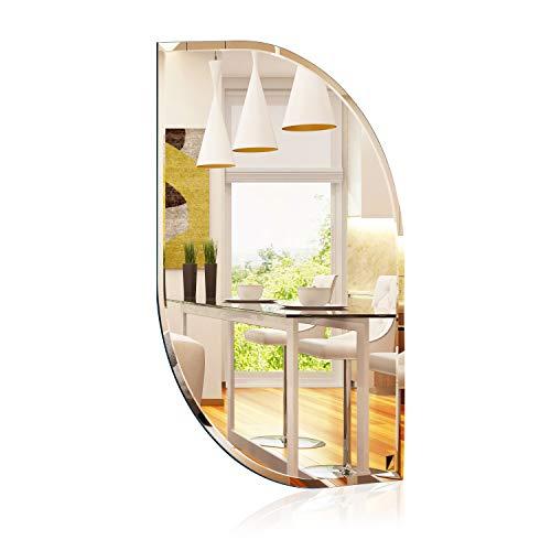1000 MIRROWS® Spiegel, Wandspiegel mit Facettenschliff | 70 x 50 cm | Der perfekte Badspiegel ohne Rahmen | Dekospiegel Wand
