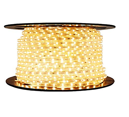 Moonlight LED Strip Rope Light,Water Proof,Decorative led Light with Adapter.Warmwhite(Yellow), (5 Meter)