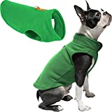 Gooby Dog Fleece Vest - Green, Medium - Pullover Dog Jacket with Leash Ring - Winter Small Dog Sweater - Warm Dog Clothes for Small Dogs Girl or Boy for Indoor and Outdoor Use
