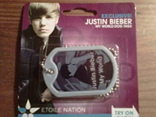 EXCLUSIVE Justin Bieber MY WORLD WEARABLE FRAGRANCE DOG TAGS - ENERGY STYLE!
