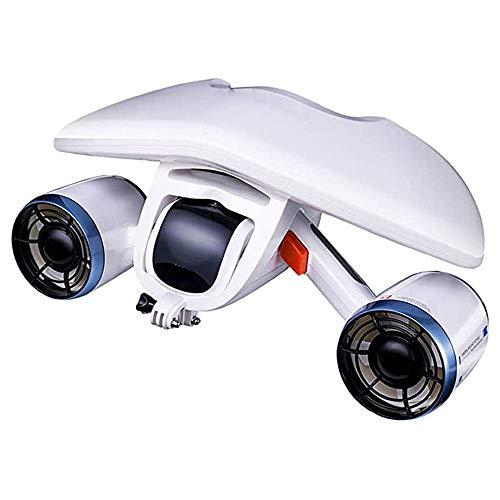 FHUA Unterwasser-Scooter, Elektroroller Unterwasser-Booster Neutral Tauchen Elektroroller Unterwasser Schwimmen Tauchen Schnorchelausrüstung,Weiß