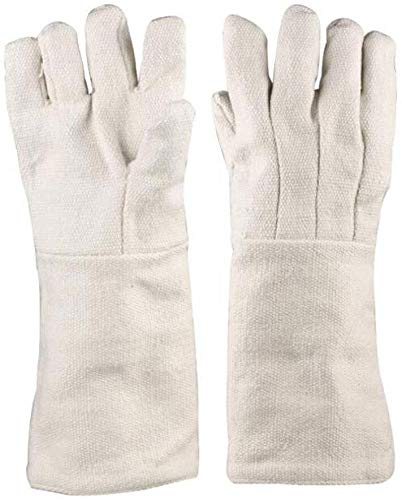 MHYNLMW Keramikfaser Resistance 1000 Grad Isolierung Handschuhe Industrie Hitzebeständige Experimental-Schutzhandschuhe