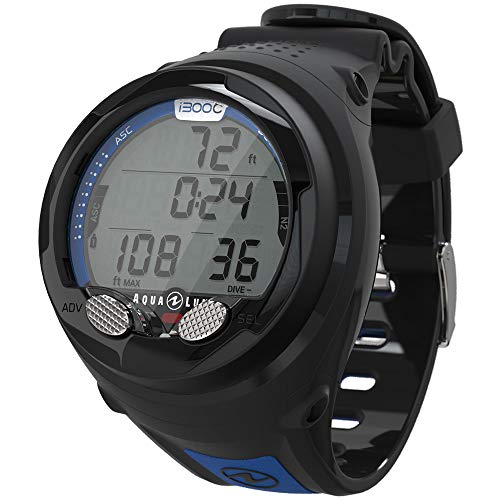 Aqua Lung I300c Wrist Dive Computer with Bluetooth Black/Blue