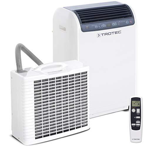 TROTEC Split-Klimagerät PAC 4600 Klimaanlage mit 4,3 kW / 14.500 Btu/h geeignet für Räume bis 120 m³ max. Luftleistung von 550 m³/h