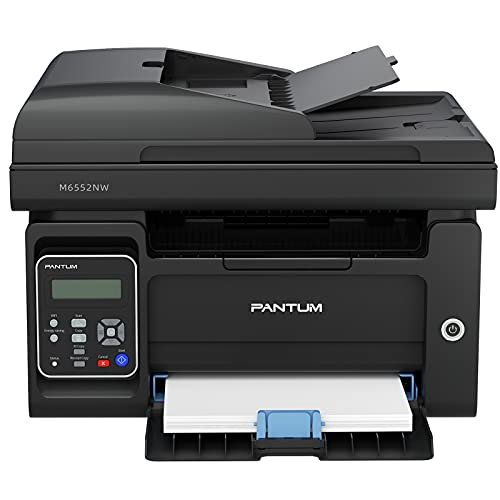 Pantum M6552NW All-in-One Wireless Monochrome Laser Printer Home Office - Print Copy Scan, Speed Up to 23 ppm, 50-Sheet ADF, 150 Large Paper Capacity
