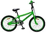 Amigo Fly - Bicicletta per bambini 20 pollici - Per ragazzi e ragazze dai 5 ai 9 anni - Bicicletta BMX con freno a mano - Verde