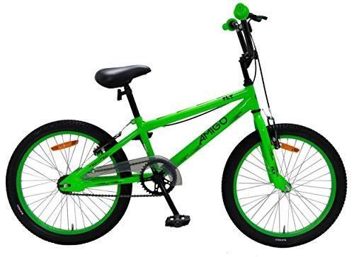 Amigo Fly - Kinderfahrrad für Jungen - 20 Zoll - mit Handbremsen und Reflector - BMX Fahrrad - ab 5-9 Jahre - Grün
